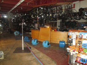 Disaster Restoration at a Bike Shop